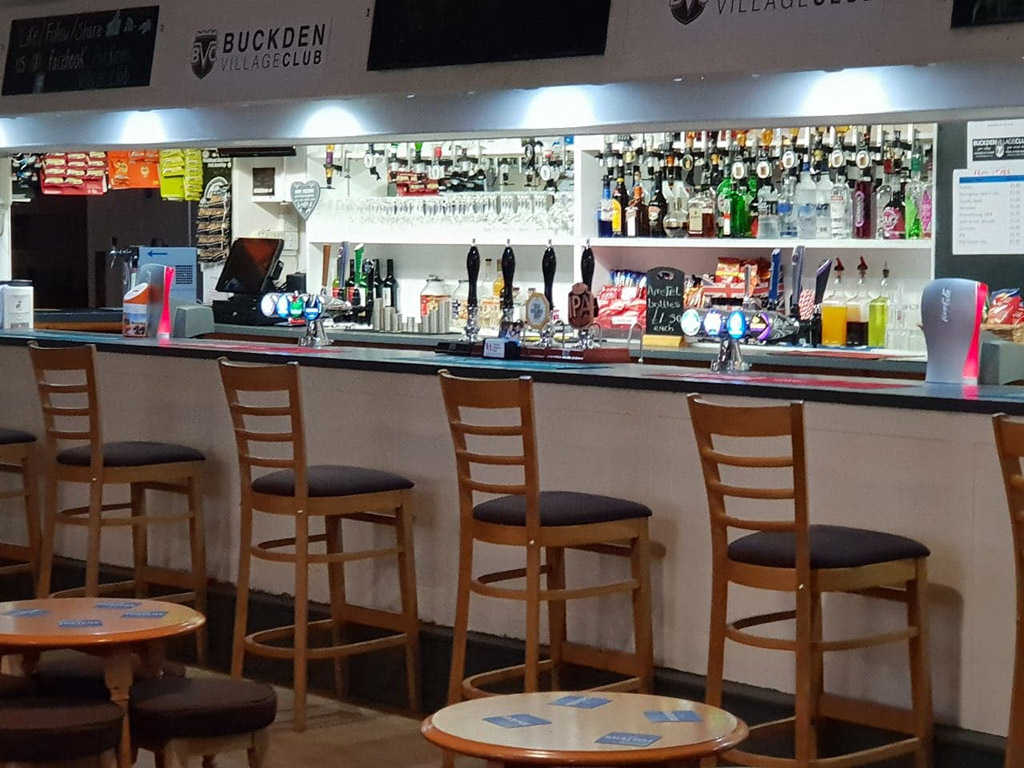 Buckden Village Club bar