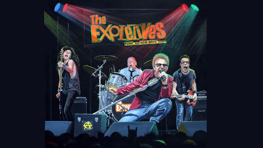 The Expletives live music group photo